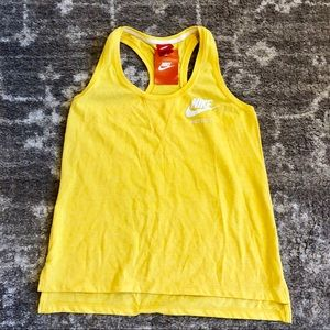 Nike Athletic Tank Top Racerback Just Do It Yellow